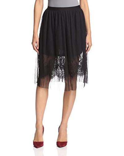 English Factory Women's Lace Skirt  [Jet Black]