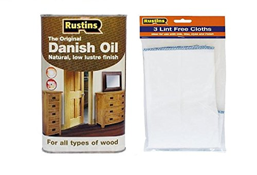 rustins-danish-oil-1ltr-complete-with-pack-of-three-lint-free-cloths