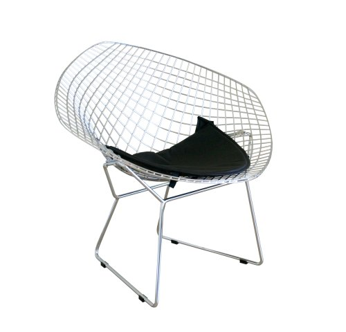 Baxton Studio Bice Chrome Chair  sc 1 st  FurnitureNDecor.com & Baxton Studio Bice Chrome Chair - FurnitureNdecor.com