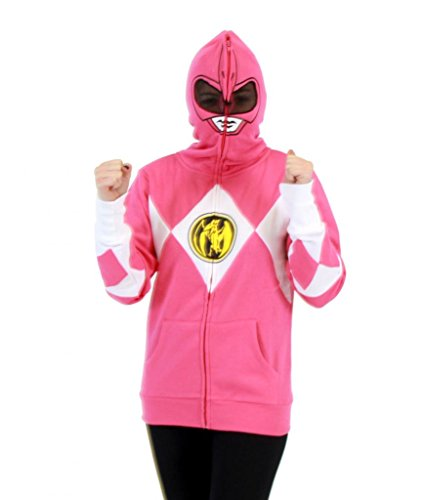 Power Rangers I Am Pink Ranger Full Zip Costume Hoodie Sweatshirt