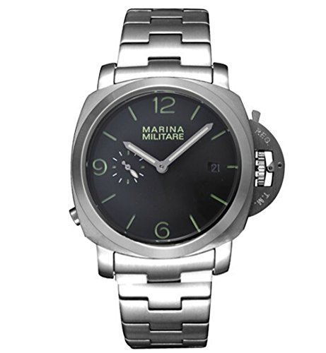 Maxstar 44Mm Black Dial Automatic Stainless Steel Mens Watch