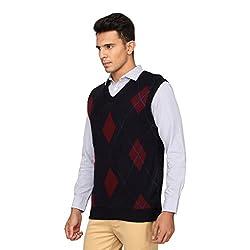 Proline Men's Synthetic Sweater (8907007344859_PC11012_NB_XXL_Navy)