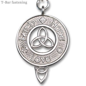 Sterling Silver Faith Hope Love Pendant