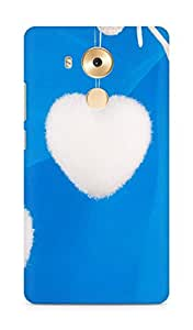 Amez designer printed 3d premium high quality back case cover for Huawei Mate 8 (Hearts blue white)