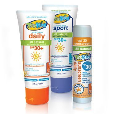 TruKid Sunny Days Daily 2.0oz + Sport 2oz + face stick (travel set) - 1