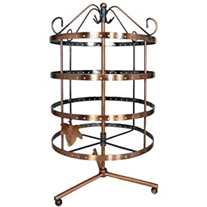 92 pairs Copper Color Rotating Earring Holder / Earring Tree / Earring Oraganizer / Earring Stand / Earring Display