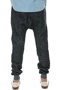 Crooks & Castles Men's Knit Sweatpant - Raven, Speckle Black, Medium