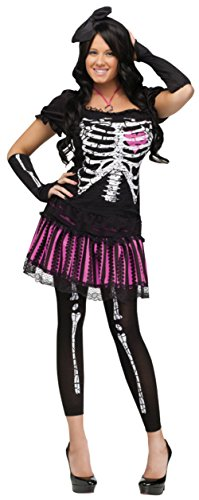 Funworld Womens Gothic Halloween Sexy Sally Skelly Bones Skeleton Costume