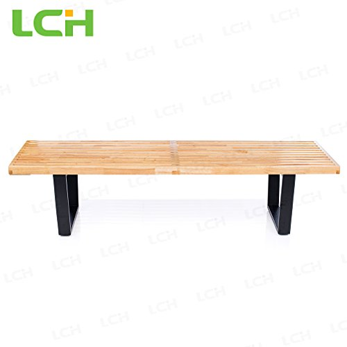 lch-nelson-platform-bench-replica-solid-natural-hardwood-top-with-black-painted-solid-hardwood-legs