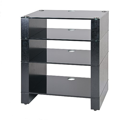 Cheap BLOK STAX DeLuxe 400 Four Shelf Black Oak Hifi Audio Stand & AV TV Furniture Rack Unit (B003AKFYOO)