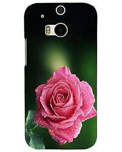MobileGabbar HTC One M8 Back Cover Plastic Hard Case