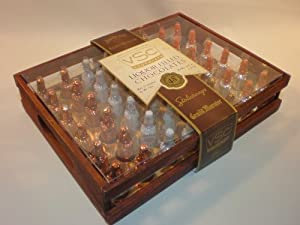 VSC Liquor Filled Chocolates - Dark Wood Crate - 48ct