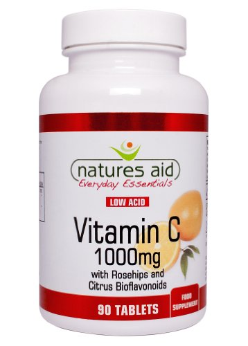 Natures Aid Vitamin C Low Acid Tablets 1000mg Pack of 90