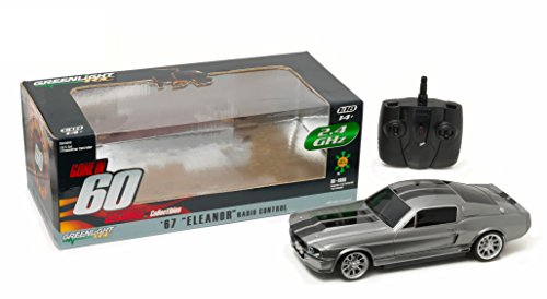 greenlight-collectibles-91001-ford-mustang-shelby-gt-500-eleanor-radio-control-echelle-1-18-gris-met