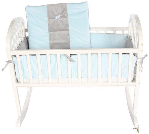 Imagen de Baby Doll Bedding Minky Carousel acogedor con Juego de cama bordado Cuna, Azul