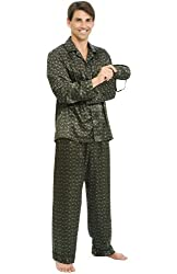 Alexander Del Rossa Men's Satin Pajama Set