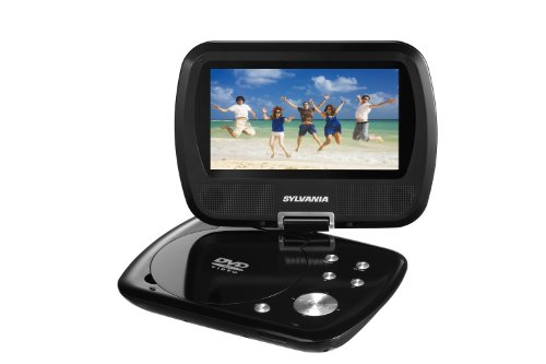 Curtis SDVD7037-BLACK Sylvania 7-Inch Portable DVD Player, Swivel Screen, with 2.5 Hour Rechargeable Battery (Black)