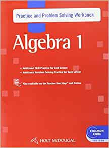 Algebra 1 guided practice book
