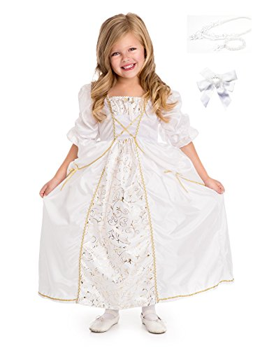 Little Adventures Princess Bride Dress Up with Necklace, Bracelet & Hairbow Age 3-5
