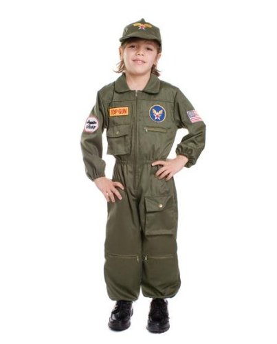 Air Force Pilot Child Halloween Costume Size Large