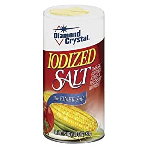 Diamond Crystal Iodized Salt 22 oz - This salt supplies iodide, a necessary nutrient.