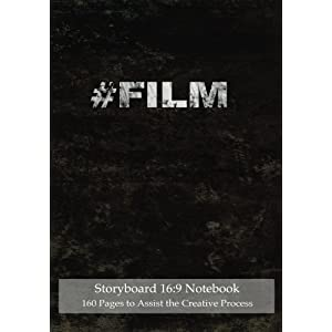"Storyboard 16:9 Notebook 120 Pages to Assist the Creative Process: 7""x10"" Notebook with black grunge cover, 4 frames per page ideal for filmmakers, ad"