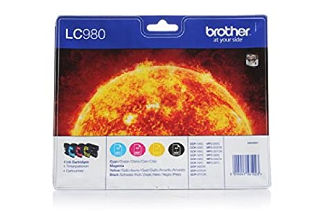 Brother MFC-255 CW - Original Brother LC-980VALBPDR - Cartouche d'encre Multipack (BK,C,M,Y ) -