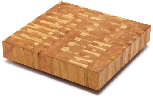 Snow River Cherry End Grain Square Butcher Block, 14-Inch by 14-Inch by 2-1/2-Inch