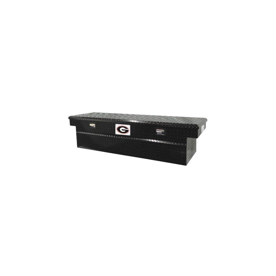 Tradesman University of Georgia 71 Black Aluminum Single Lid Full Size Cross Bed Truck Tool Box