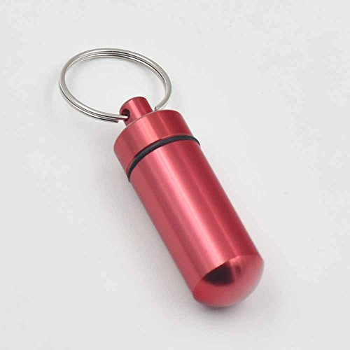red water proof emergency cash capsule