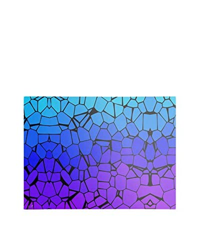 Masters Art Crystals of Blue and Purple Canvas Wall Art