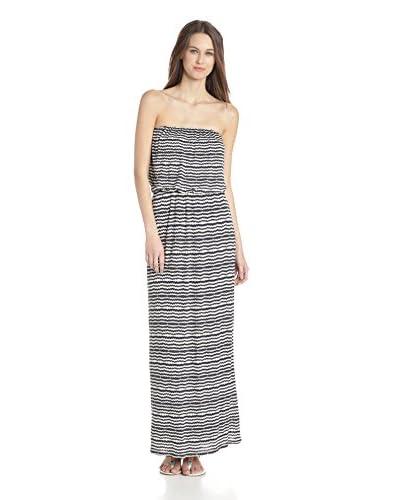 Velvet by Graham & Spencer Women's Aztec Stripe Print Strapless Maxi Dress