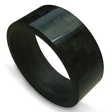 buy Men'S 9Mm 100% Genuine Pure Carbon Fiber Wedding Band Ring (13)