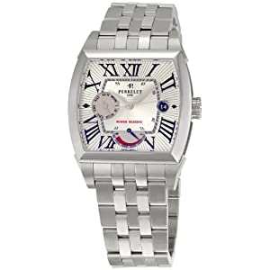 Perrelet Men's A1021/A Power Reserve Silver Dial Watch