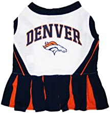 Pets First DBCLO-M Denver Broncos NFL Dog Cheerleader Outfit - Medium