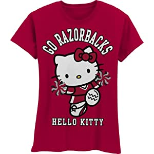 80a3e0f81 Arkansas Razorbacks NCAA Hello · Kitty Pom Pom Girls' Crew Tee Shirt