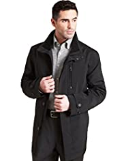 Big & Tall Collezione Stormwear&#8482; Funnel Neck Mac