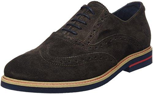 El Ganso Uomo Zapato Oxford Ante Marrón Scarpe Marrone Size: 45