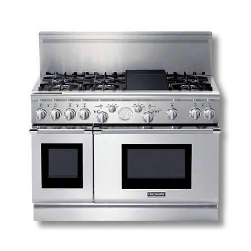 Thermador PRG486EDG 48 Pro Grand Gas Range Stainless Steel  ->  Thermador's signature 48″ Gas range. Unique Convec