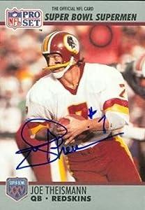 Joe Theismann autographed Football Card (Washington Redskins) 1990 Pro Set #133 by Autograph Warehouse