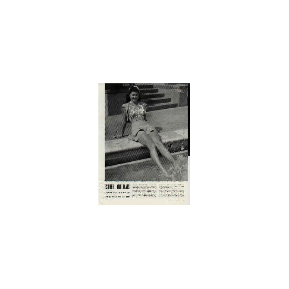 ESTHER WILLIAMS  Hollywood finds starlet who can swim as well as pose by a pool.  1943 LIFE Magazine Article, A5810A. 19430419
