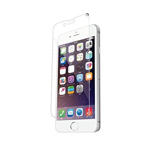 ELECOM iPhone 6s/6  液晶保護ガラスフィルム ゴリラガラス 浮かない [3D touch 最高硬度9H 極薄0.2mm ラウンドエッジ加工 飛散防止設計]  PM-A15FLGGGO