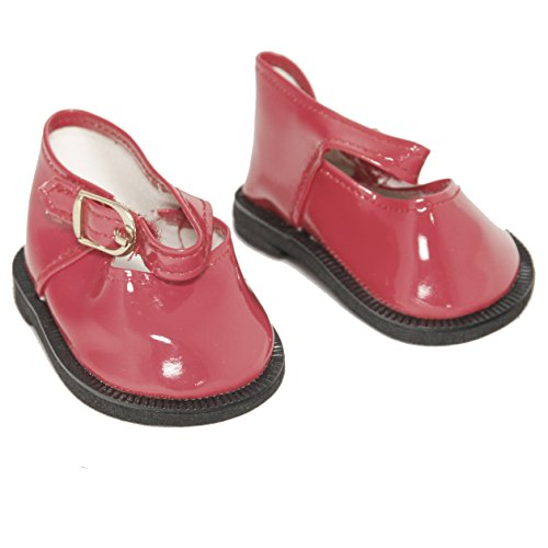 Red Mary Jane Shoes for 18 Inch Dolls Like American Girl