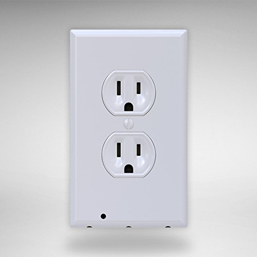 SnapPower Guidelight - Outlet Coverplate with LED Night Lights, Duplex, White (Outside Wall Fan compare prices)