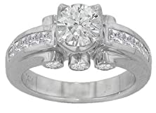 buy 1.55 Ct Round Diamond Engagement Ring Platinum Channel Accent Mount Size 4.5