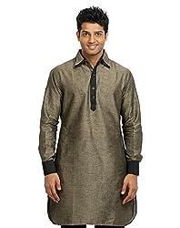 Runako Men's Cotton Blend Pathani Kurta