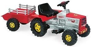 Injusa 615009 - Tractor Con Remolque Y Bateria 6V +1Año