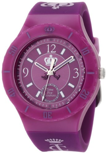 Juicy Couture Women's 1900853 TAYLOR Purple Jelly Strap Watch