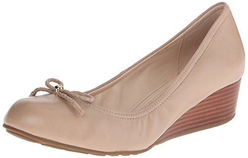 Cole Haan Women's Tali Grand Lace Wedge Pump 40mm, Maple Sugar, 8 B US (Cole Haan Shoes Women Wedge compare prices)