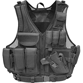 Firepower® Deluxe Tactical Vest Black
